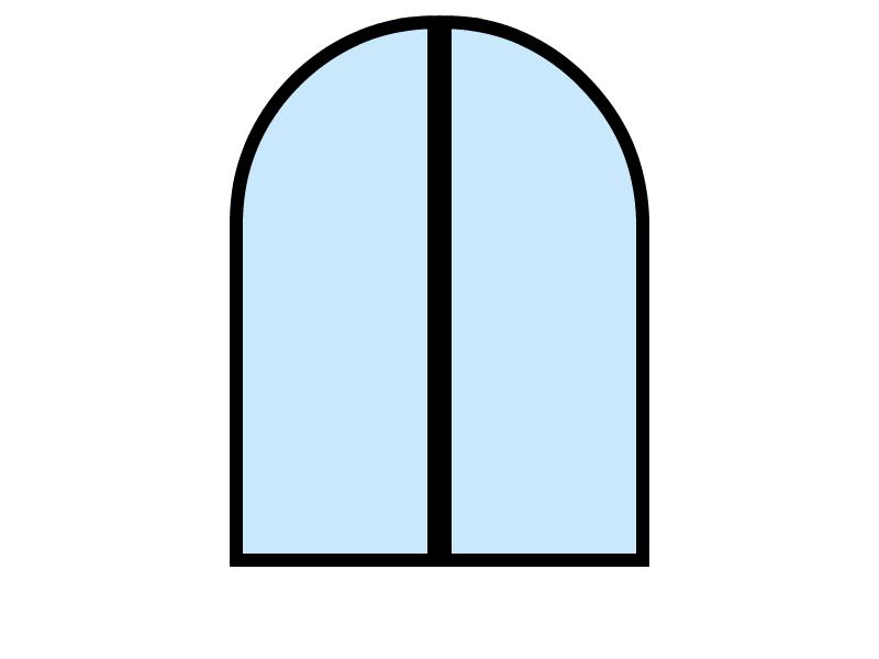 2 vantaux - cintrée